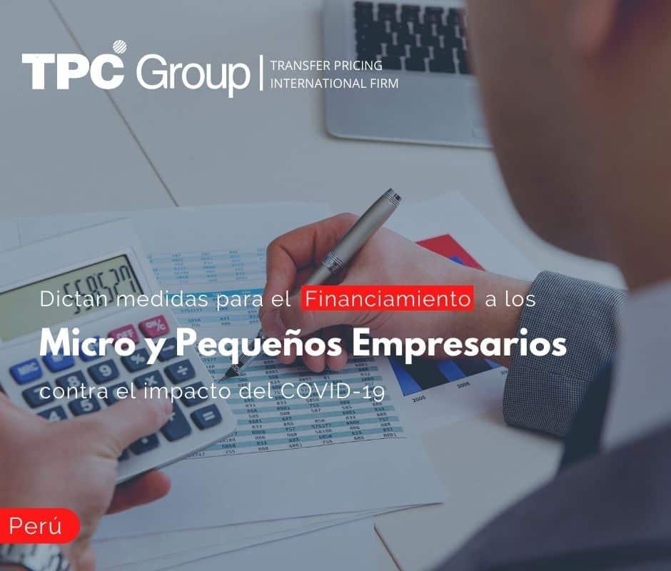 Dictan medidas para el Financiamiento a los Micro y Pequeños Empresarios contra el impacto del Covid - 19