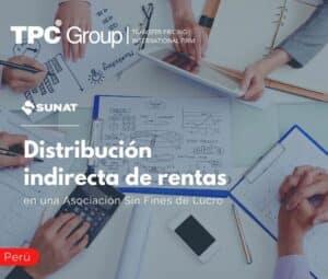 Distribución indirecta de rentas en una Asociaciones Sin Fines de Lucro