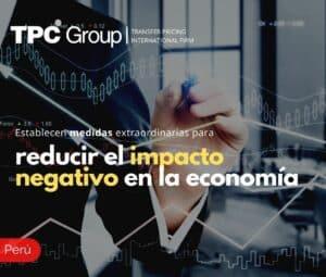 Establecen medidas extraordinarias para reducir el impacto negativo en la economía