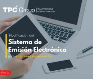 Modificación del Sistema de Emisión Electrónica para empresas supervisadas