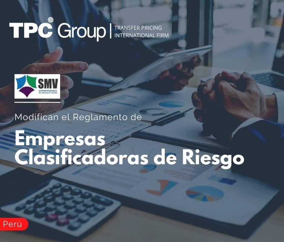 Modifican el Reglamento de Empresas Clasificadoras de Riesgo