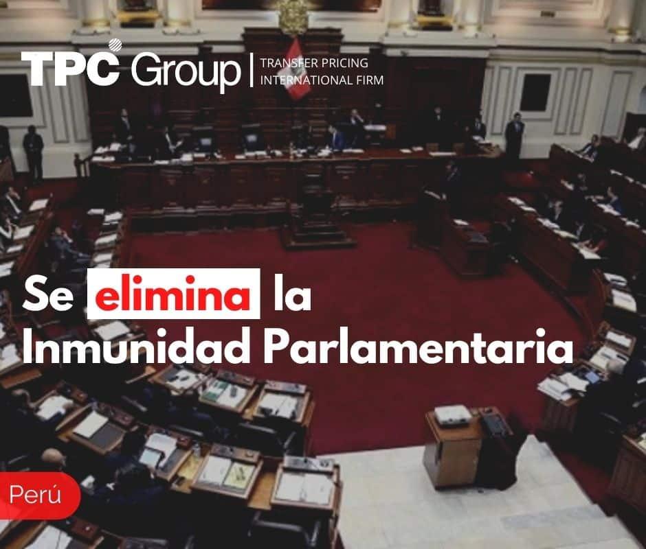 Se elimina la Inmunidad Parlamentaria
