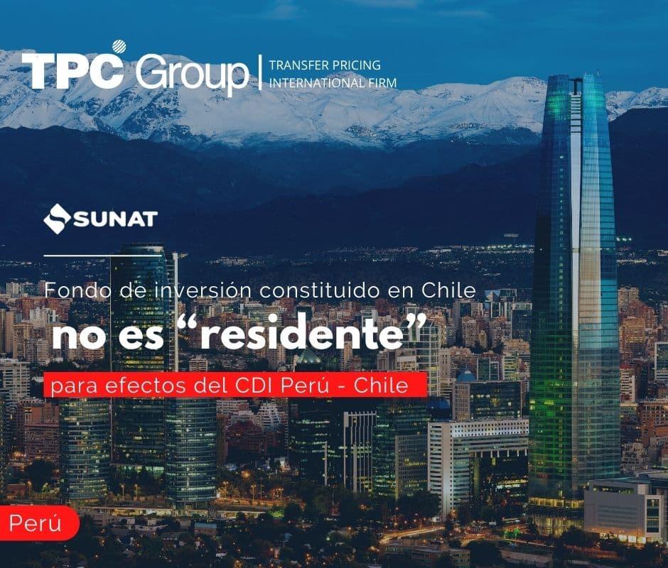 """Fondo de inversión constituido en Chile, no es """"residente"""" para efectos del CDI Perú - Chile"""