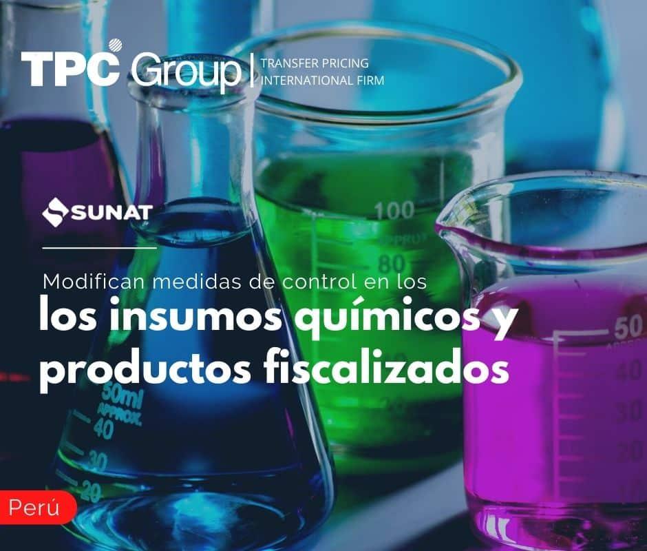 Modifican medidas de control en los insumos químicos y productos fiscalizados