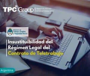 Insustituibilidad del Régimen Legal del Contrato de Teletrabajo