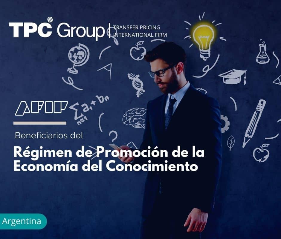 Beneficiarios del Régimen de Promoción de la Economía del Conocimiento