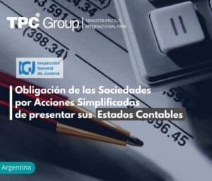 Obligación de las Sociedades por Acciones Simplificadas de presentar sus Estados Contables