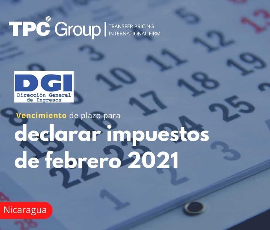 Vencimiento de plazo para declarar impuestos de febrero 2021