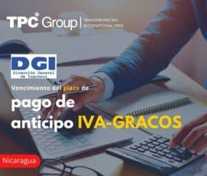Vencimiento del plazo de pago de anticipo IVA-GRACOS