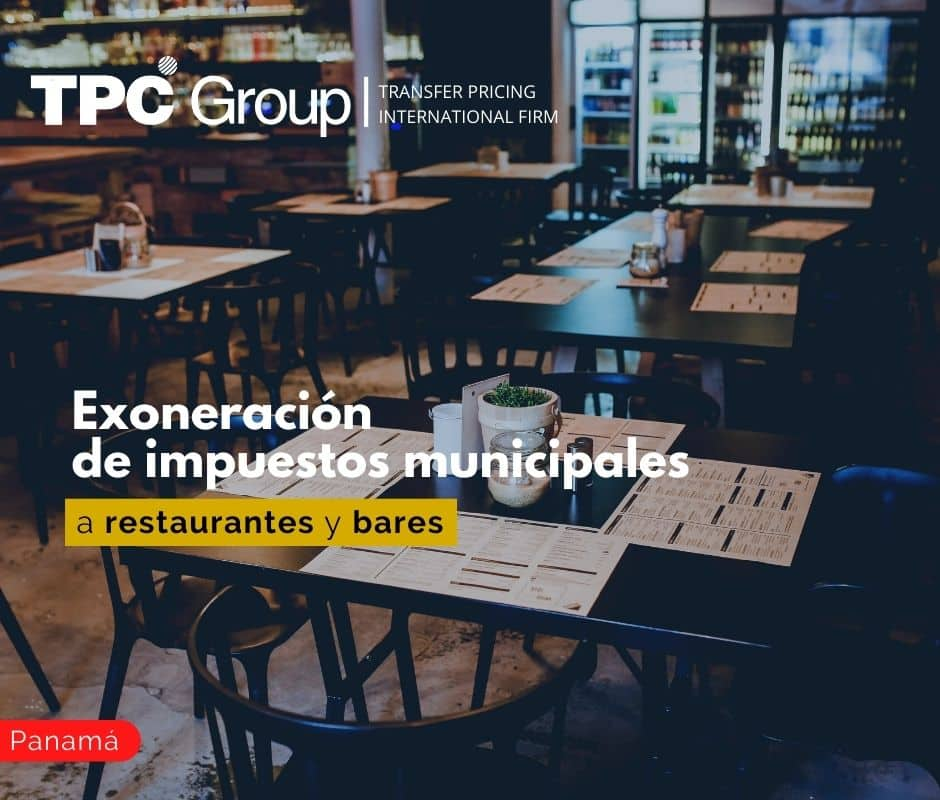 Exoneración de impuestos municipales a restaurantes y bares
