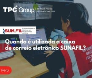 Quando é utilizada a caixa de correio eletrônico SUNAFIL?