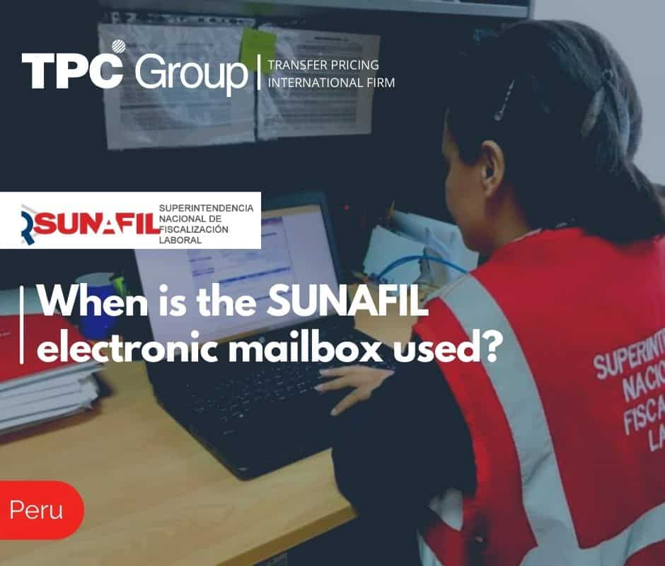 When is the SUNAFIL electronic mailbox used?