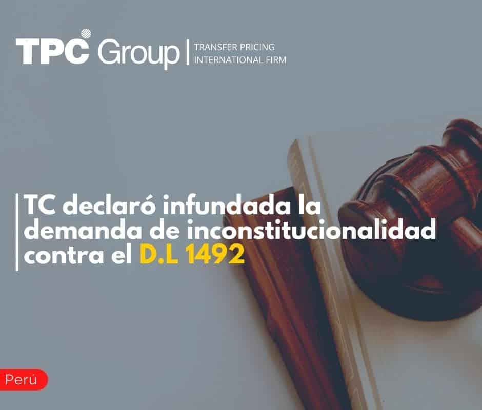 TC declaró infundada la demanda de inconstitucionalidad contra el D.L 1492