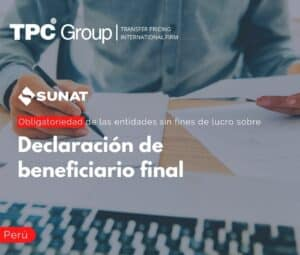 Obligatoriedad de las entidades sin fines de lucro Declaración de beneficiario final
