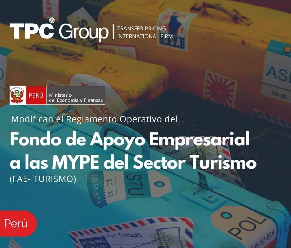 Modifican el Reglamento Operativo del Fondo de Apoyo Empresarial a las MYPE del Sector Turismo (FAE- TURISMO)