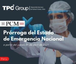 Prórroga del Estado de Emergencia Nacional.