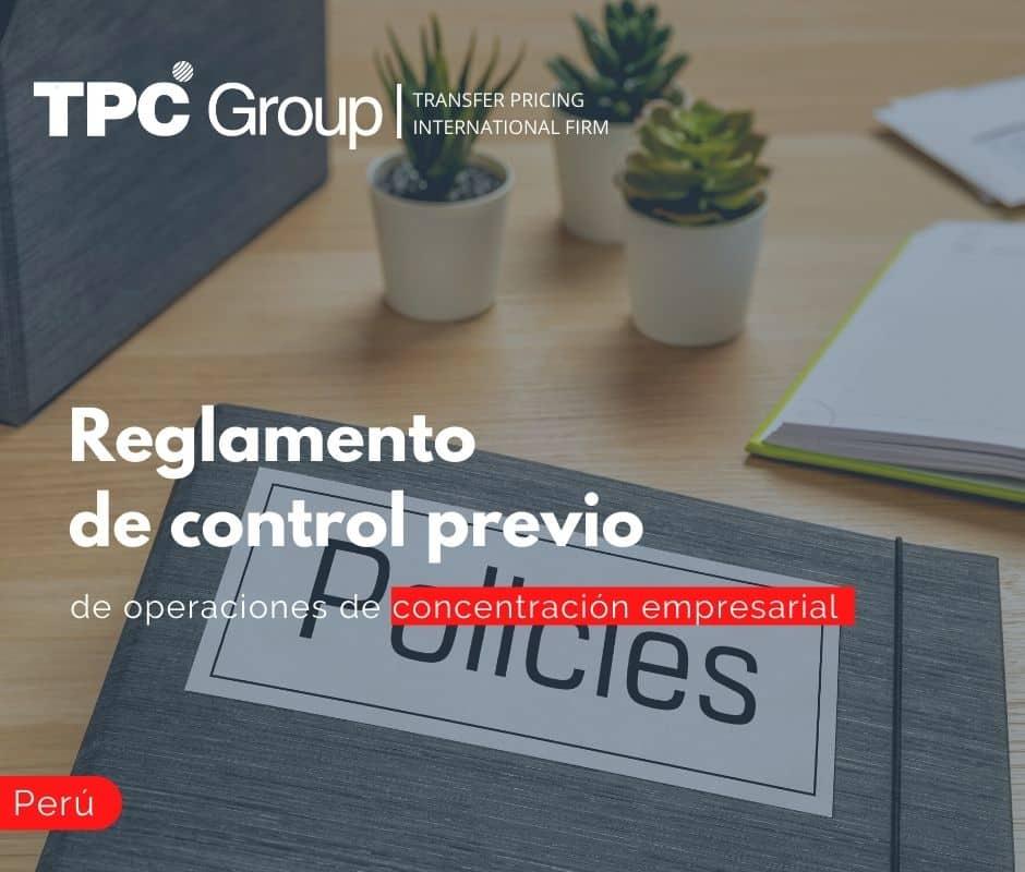 Reglamento de control previo de operaciones de concentración empresarial