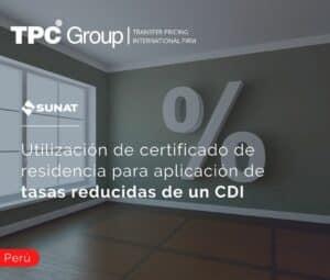 Utilización de certificado de residencia para aplicación de tasas reducidas de un CDI