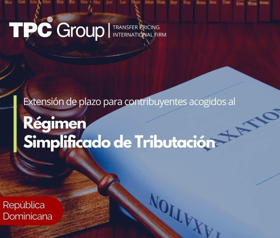 Extensión de plazo para contribuyentes acogidos al Régimen Simplificado de Tributación
