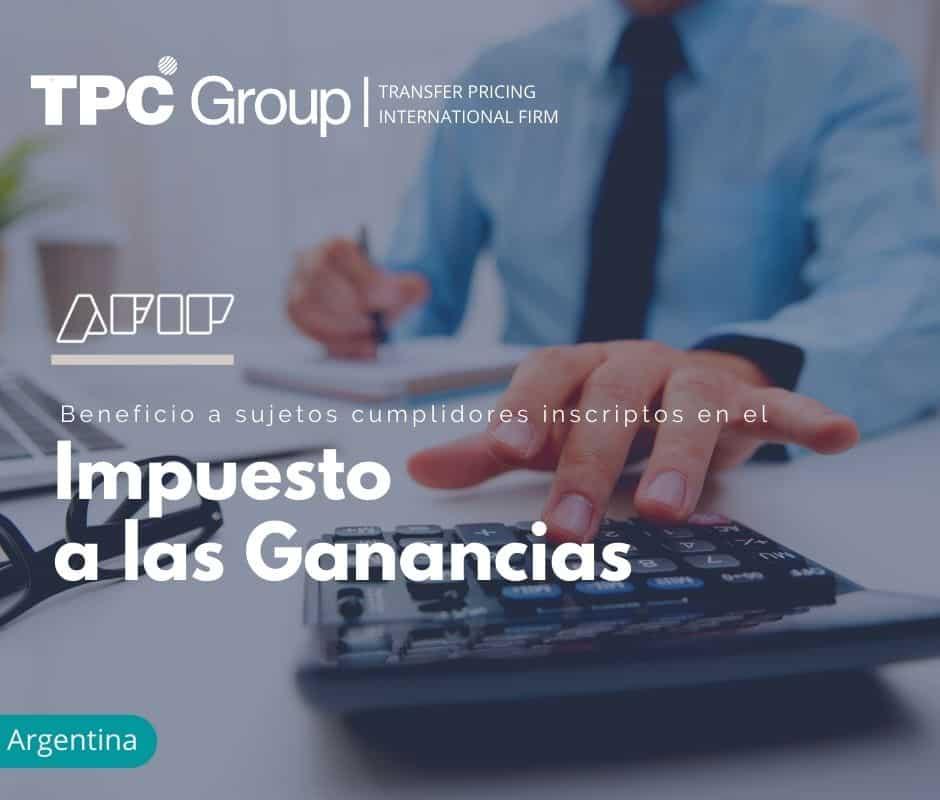 Beneficio a sujetos cumplidores inscriptos en el Impuesto a las Ganancias