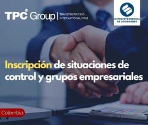 Inscripción de situaciones de control y grupos empresariales