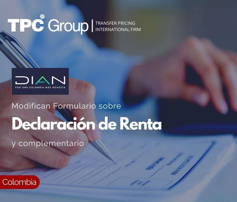 Modifican Formulario sobre Declaración de Renta y complementario