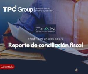 Modifican anexos sobre Reporte de conciliación fiscal