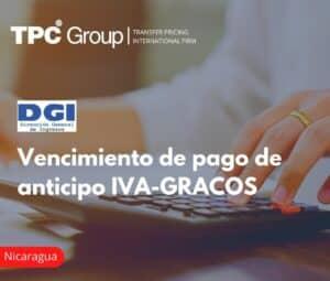 Vencimiento de pago de anticipo IVA-GRACOS