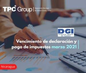 Vencimiento de declaración y pago de impuestos marzo 2021