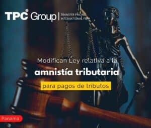 Modifican Ley relativa a la amnistía tributaria para pagos de tributos