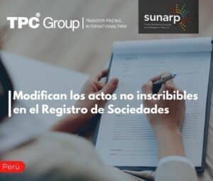 Modifican los actos no inscribibles en el Registro de Sociedades