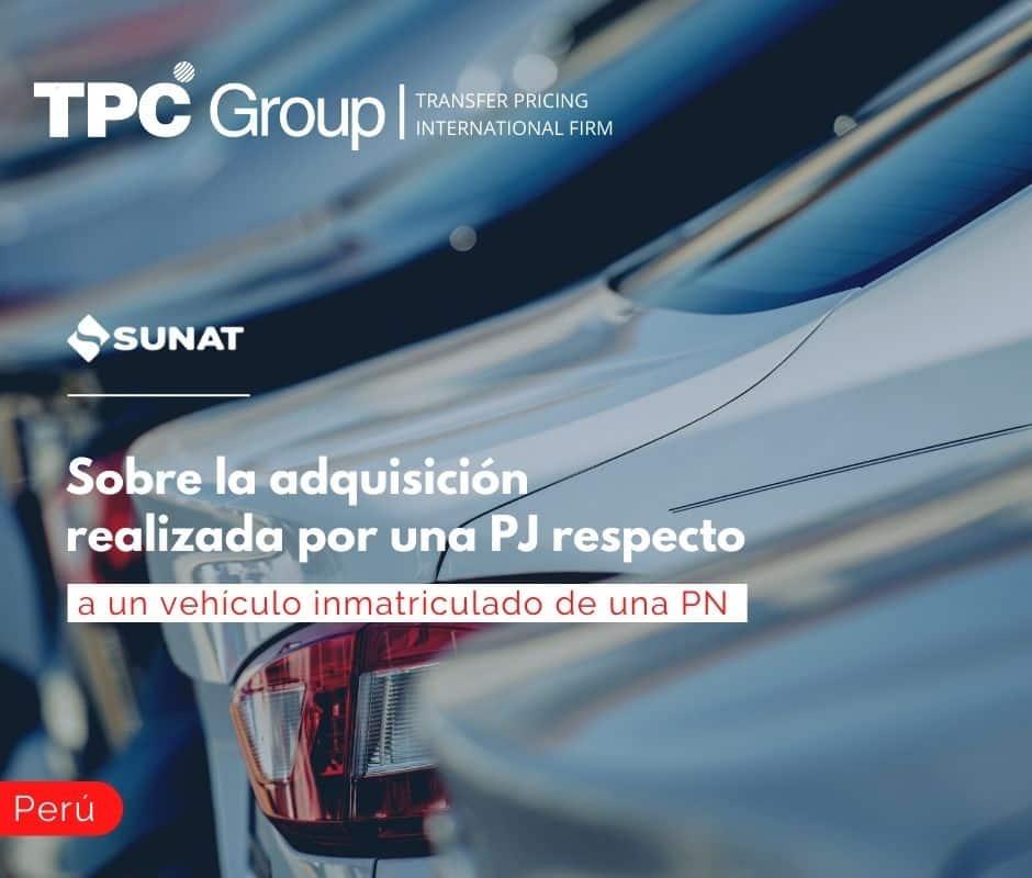 Sobre la adquisición realizada por una PJ respecto a un vehículo inmatriculado de una PN