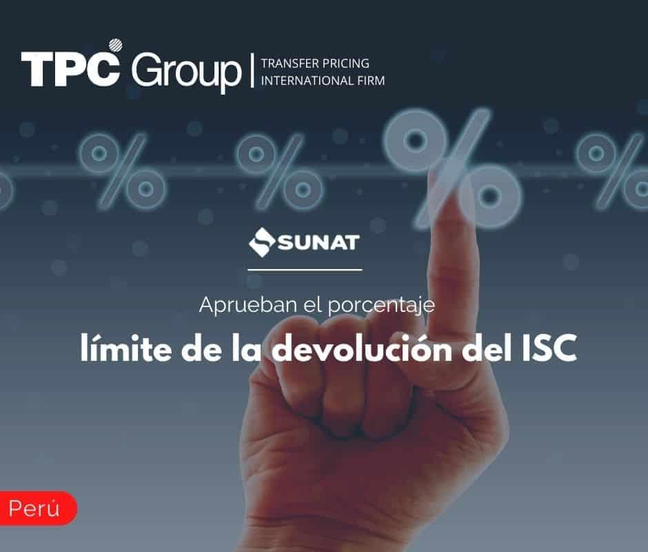 Aprueban el porcentaje para límite de la devolución del ISC