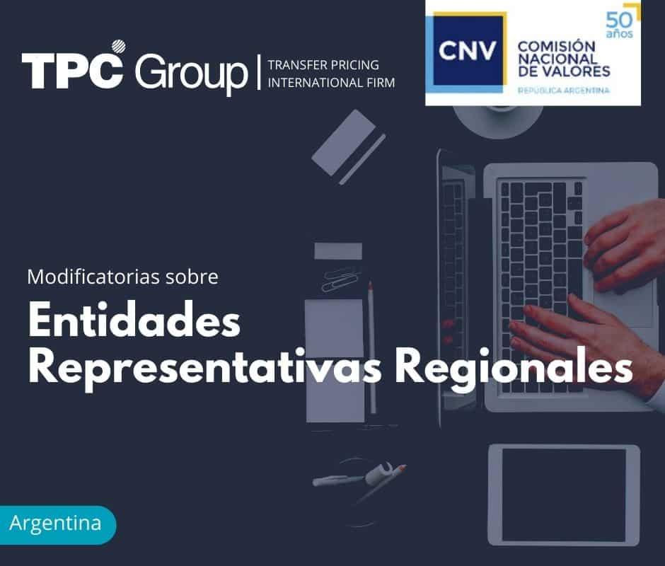 Modificatorias sobre Entidades Representativas Regionales