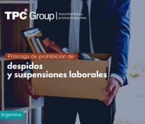 Prórroga de prohibición de despidos y suspensiones laborales en Argentina