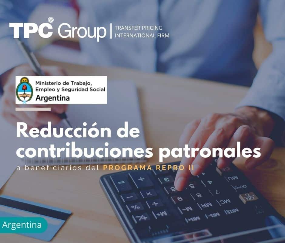 Reducción de contribuciones patronales a beneficiarios del PROGRAMA REPRO II