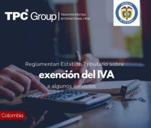 Reglamentan Estatuto Tributario sobre exención del IVA a algunos servicios