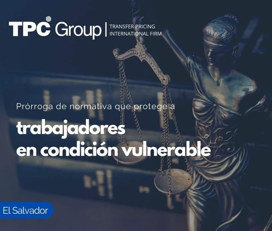 Prórroga de normativa que protege a trabajadores en condición vulnerable