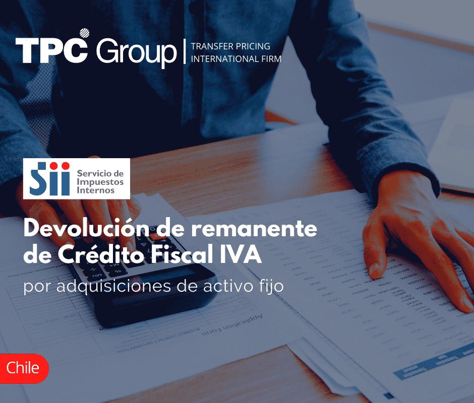 Devolución de remanente de Crédito Fiscal IVA por adquisiciones de activo fijo