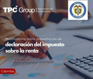 Modificatoria sobre presentación de declaración del impuesto sobre la renta
