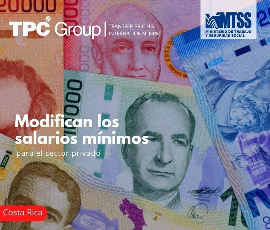 Modifican los salarios mínimos para el sector privado