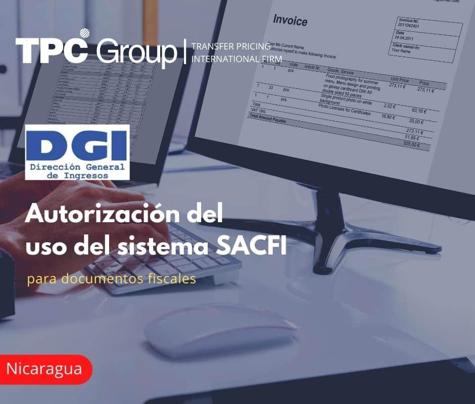 Autorización del uso del sistema SACFI para documentos fiscales