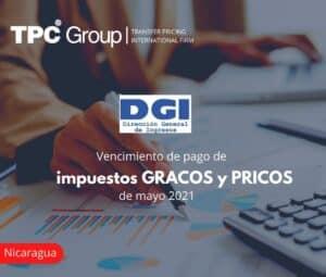 Vencimiento de pago de impuestos GRACOS y PRICOS de mayo 2021