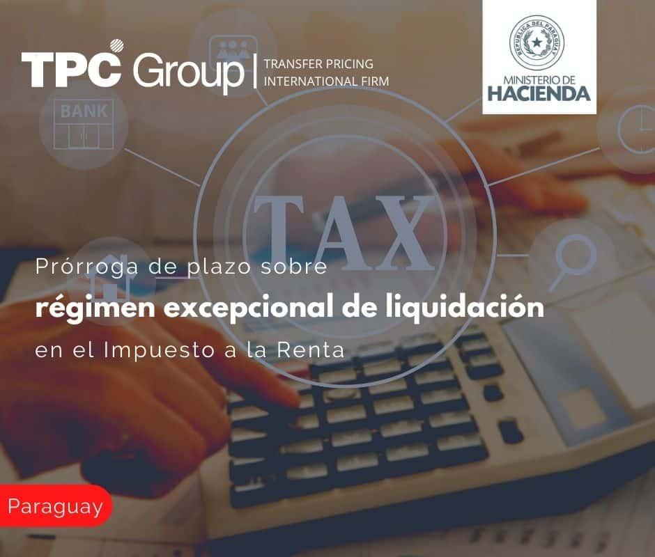 Prórroga del plazo sobre el régimen excepcional de liquidación en el Impuesto a la renta