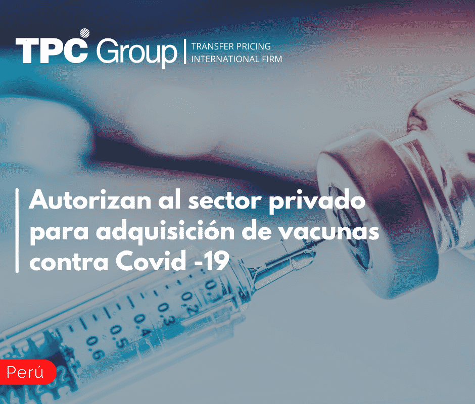 Autorizan al sector privado para adquisición de vacunas contra Covid -19