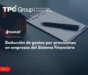 Deducción de gastos por provisiones en empresas del Sistema Financiero