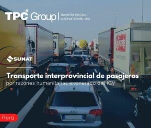 Transporte interprovincial de pasajeros por razones humanitarias exonerado del IGV