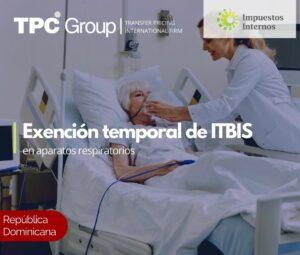 Exención temporal de ITBIS en aparatos respiratorios