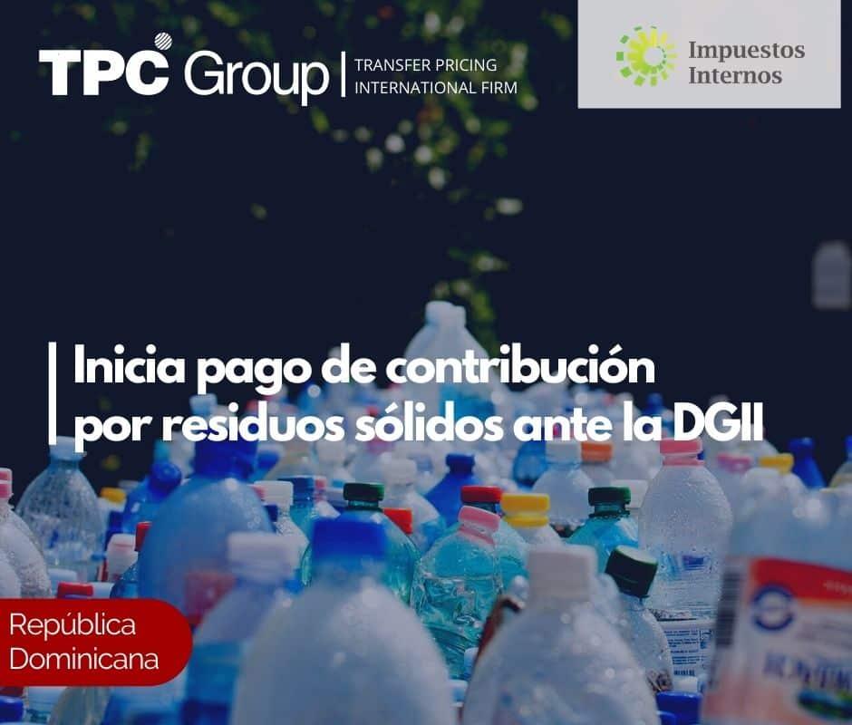 Inicia pago de contribución por residuos sólidos ante la DGII