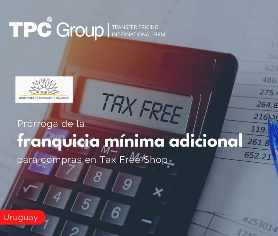 Prórroga de la franquicia mínima adicional para compras en Tax Free Shop
